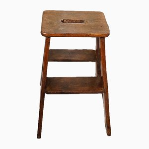 Antique Oak Provincial Step Stool