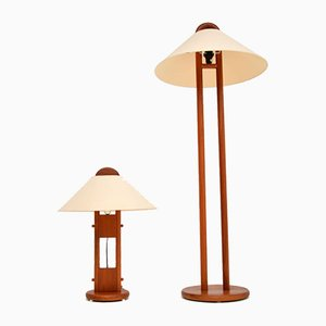 Danish Vintage Teak Table/Floor Lamps from Lys, 1970s, Set of 2