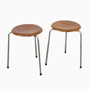 Dot Teak Stool by Arne Jacobsen for Fritz Hansen, 1964