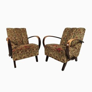 Lounge Chairs by Jindřich Halabala, 1950s, Set of 2