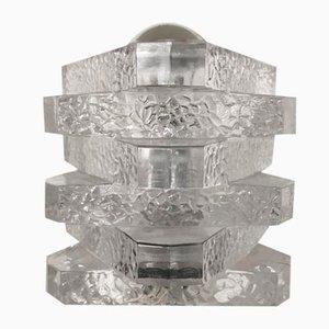 Triangular Glass Table Lamp from Peill & Putzler, 1970s
