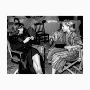Rogers & Hepburn Chat on Set Archival Pigment Print Framed in Black by Everett Collection