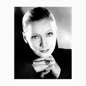 Garbo Archival Pigment Print Framed in Black by Everett Collection