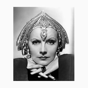 Art Deco Greta Garbo Archival Pigment Print Framed in White by Everett Collection