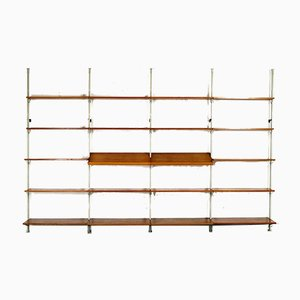 Modular Teak Shelving System by Olof Pira for String, 1956, Set of 25