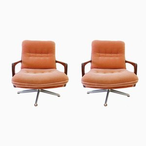 Mohair Lounge Chairs by Eugene Schmidt for Solo Form, 1960s, Set of 2