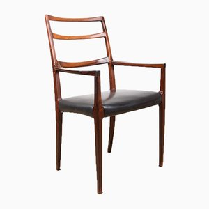 Rosewood & Leather Armchair by Johannes Andersen for Uldum Møbelfabrik, 1960s