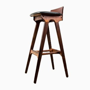 Rosewood High Bar Stool by Erik Buch for Odense Maskinsnedkeri / O.D. Møbler, 1960s