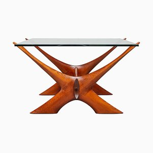 Condor X-Shaped Organic Coffee Table by Fredrik Schriever Abeln for Örebro Glas, 1960s