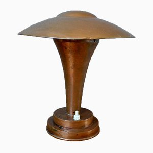 Art Deco Mushroom Table Lamp, 1940s