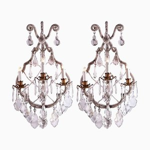 Crystal Sconces, Set of 2
