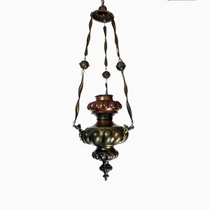 Antique Copper Embossed Ceiling Lamp
