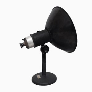 Industrial Adjustable Black Table Lamp, 1950s
