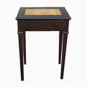 Louis XVI Table with Walnut Top in Yellow Siena Marble