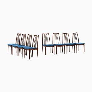 Palisander Esszimmerstühle von Niels Kofoed, Dänemark, 1960er, 8er Set