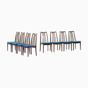 Rosewood Dining Chairs Attributed to Niels Kofoed, Denmark, 1960s, Set of 8