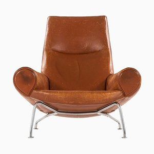 Model AP47 or Queen OX Easy Chair by Hans J. Wegner for A.P. Stolen, Denmark, 1960s