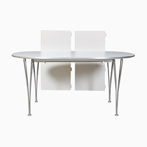 Super Ellipse Dining Table with 2 Extension Leaves by Piet Hein & Bruno Mathsson for Fritz Hansen, 2004
