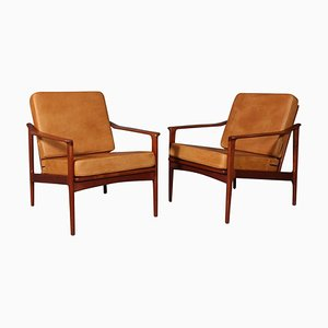 Lounge Chairs by Ib Kofod-Larsen, 1960s, Set of 2
