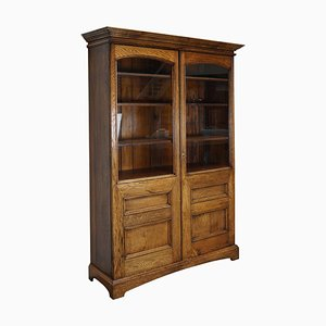 Antique English Oak Bookcase, 1870s