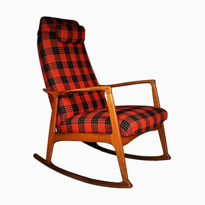 Mid-Century Scandinavian Beech Rocking Chair, 1960s