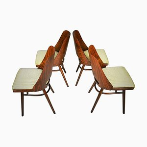 Expo 58 Dining Chairs by Oswald Haerdtl for Ton, 1950s, Set of 4