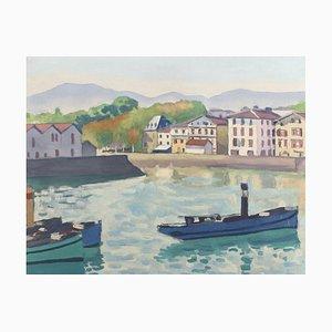 The Port of Saint-Jean-de-Luz Lithograph by Albert Marquet, 1930s