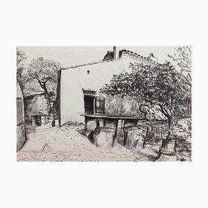 Courtyard in Provence von Pierre Dionisi, 1930er