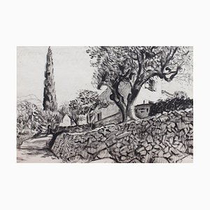 The Olive Tree Behind the Stone Wandgemälde von Pierre Dionisi, 1930er