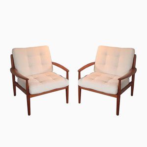 Danish Teak Armchairs by Grete Jalk, 1960s, Set of 2