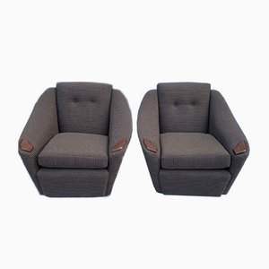Armchairs in Bute Fabric and Teak Handrests, 1960s, Set of 2