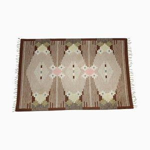 Swedish Hand Woven Carpet by Ingegerd Silow, 1960s