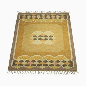 Flachgewebter Schwedischer Teppich von Ingegerd Silow, 1960er