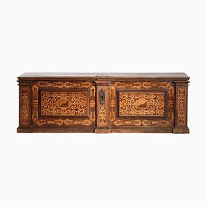 19th Century Italian Chest Blanket or Trunk in Iron and Marquetry