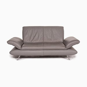 Grey Leather Rossini 2-Seat Sofa from Koinor