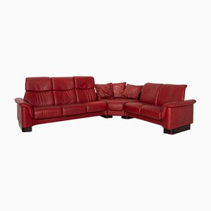 Dark Red Leather Paradise Corner Sofa from Stressless