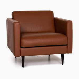 Brown Leather Osaka Armchair from BoConcept