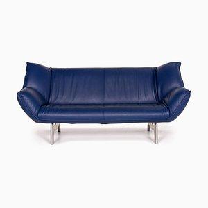 Dark Blue Leather Tango 3-Seat Sofa from Leolux