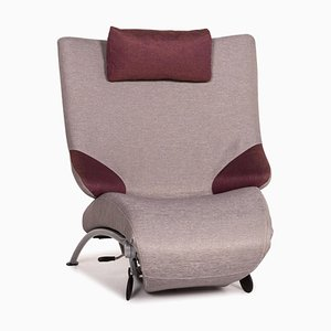 Grey & Purple Fabric Solo 699 Lounge Chair from WK Wohnen
