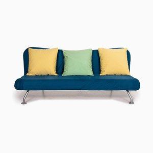 Blau-Gelbes 3-Sitzer Schlafsofa von Brühl & Sippold