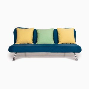 Blue & Yellow 3-Seat Sofa Bed from Brühl & Sippold