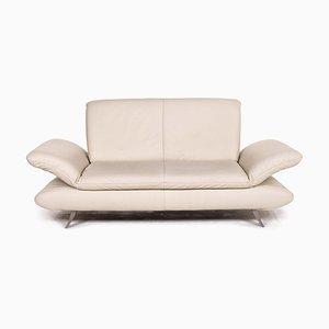 Cream Leather Rossini 2-Seat Sofa from Koinor