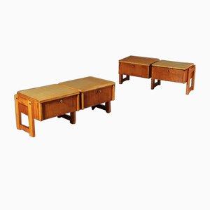 Beech Veneer, Ash Tree & Beech Container Furnitures by Mario Vender, 1961, Set of 2