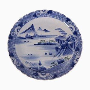 Piatto Arita in ceramica di Taisho, Giappone, inizio XX secolo