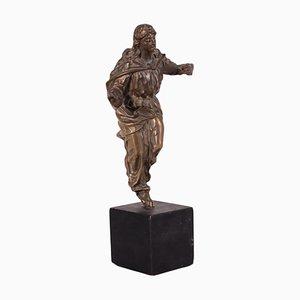 18th Century Italian Baroque Gilded Bronze Sacred Figure