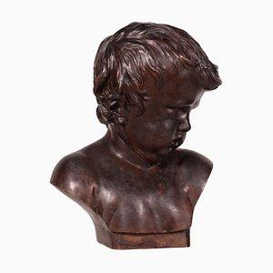 Scultura da bambino in bronzo, Italia, inizio XIX secolo