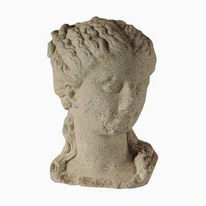 Italian Cement Paste Female Figure Head, 1900s