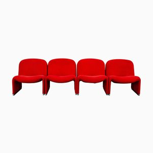 Lounge Chairs by Giancarlo Piretti for Castelli, 1970s, Set of 4