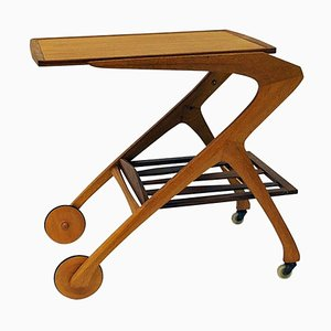 Teak and Oak Trolley by Arne Fregnell for NC Möbler, Sweden, 1959