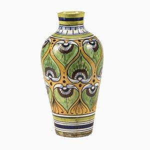 Antique Art Nouveau Heavy Decorated Ceramic Vase